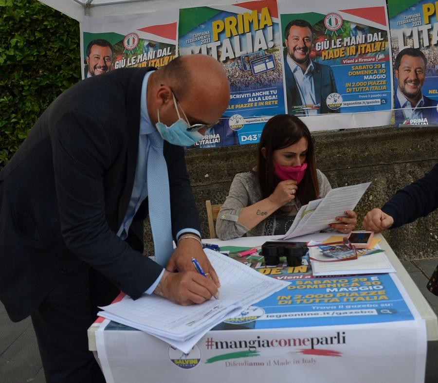 """Benevento: Fucci firma la petizione di Salvini per la tutela del """"Made in Italy"""""""