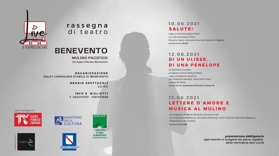 """Mulino Pacifico,parte la rassegna """"Live il Teatro è dal vivo"""""""