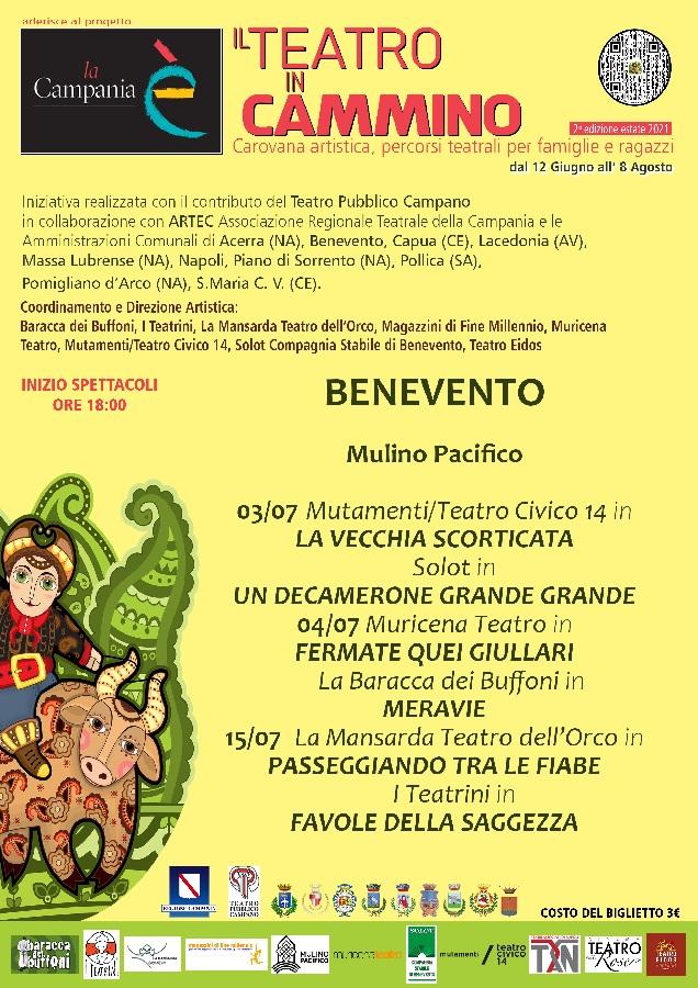 """Al Mulino Pacifico di Benevento 2° edizione """"Teatro in Cammino"""""""