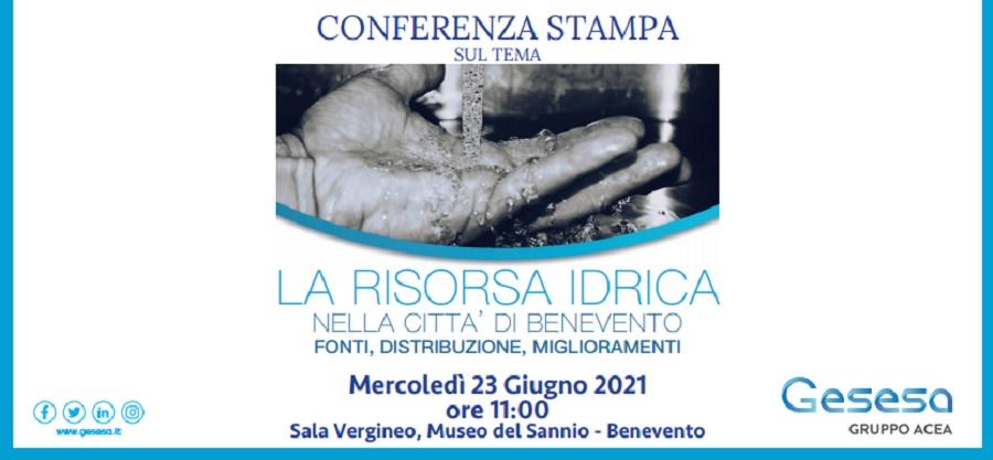 """Gesesa. Mercoledi 23 Giugno conferenza stampa su """"La Risorsa Idrica nella città di Benevento"""""""
