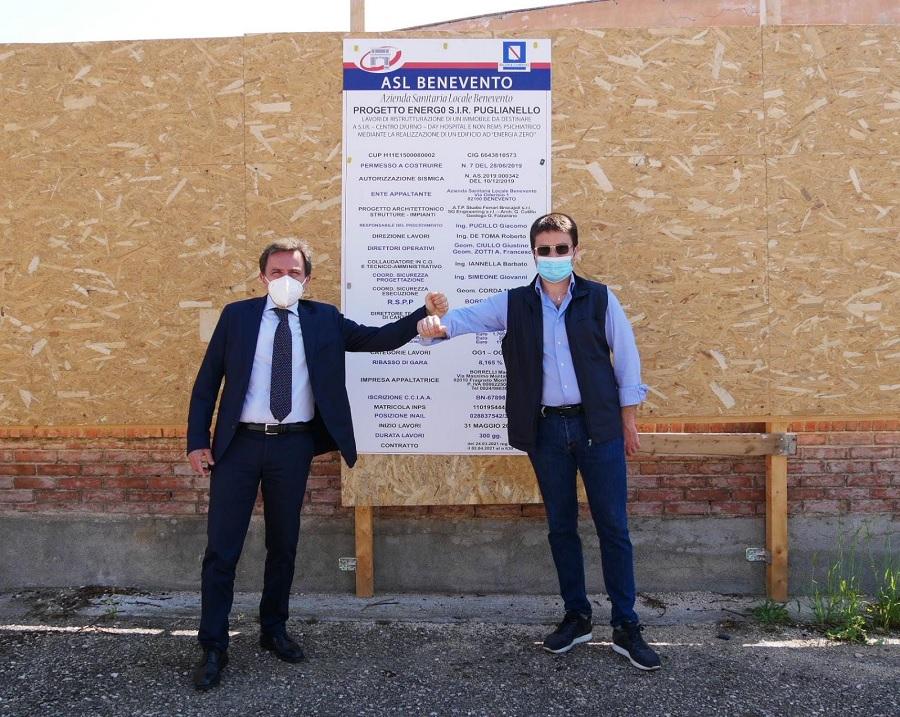 ASL: Iniziati i lavori della nuova SIR di Puglianello. Sarà un edificio a energia zero