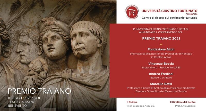 Premio Traiano 2021 allaFondazione Aliph, giovedì 8 Luglio al Teatro Romano organizzato dall'Unifortunato