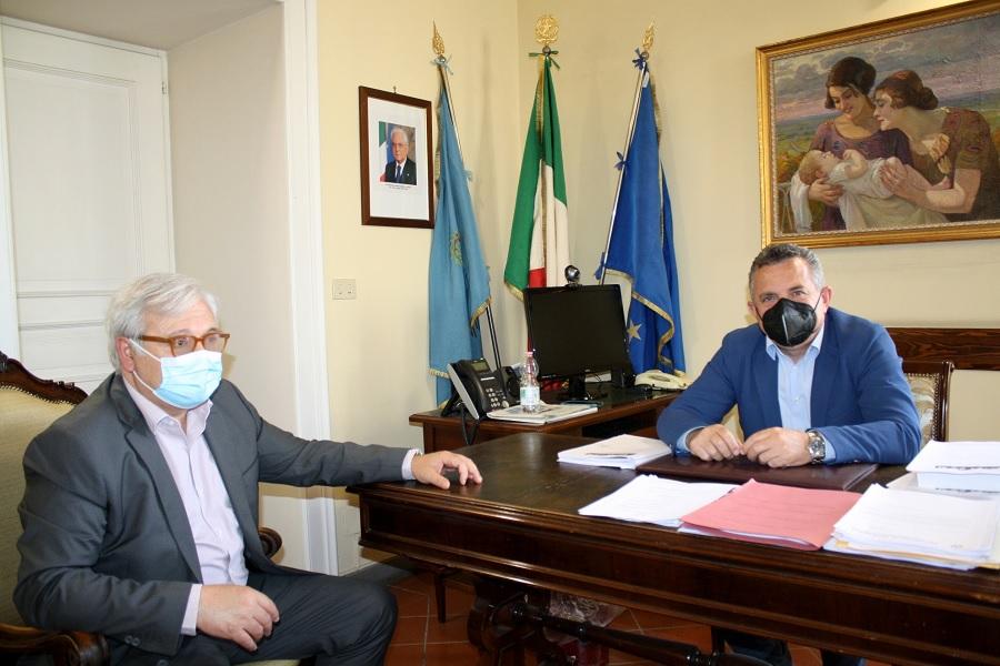 Il Commissario Straordinario della Camera di Commercio Salvatore Riccio ricevuto alla Rocca