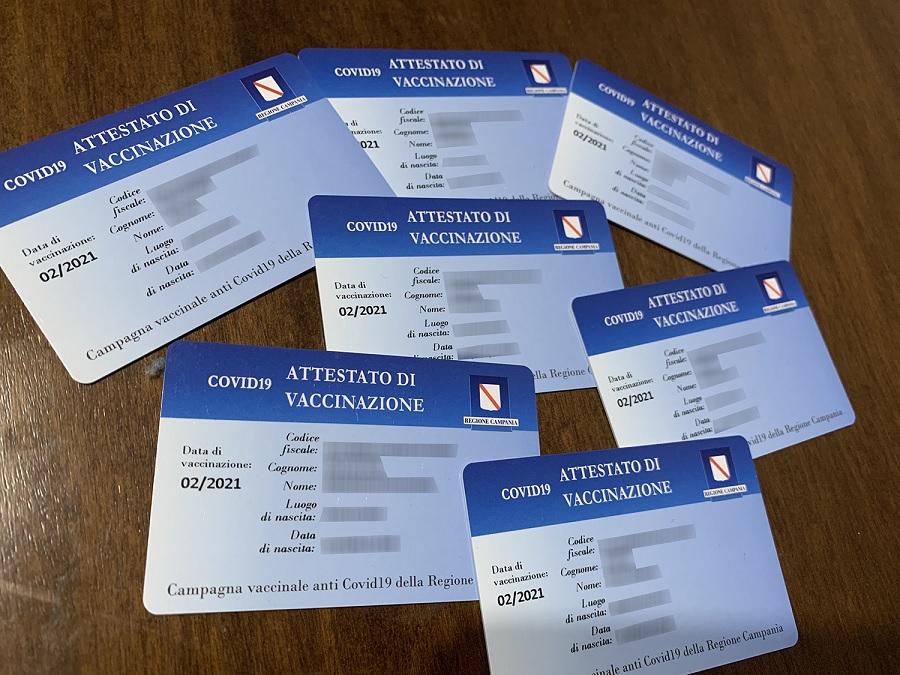 Benevento. Da lunedì la consegna della Smart Card attestanti l'avvenuta vaccinazione Anti Covid-19