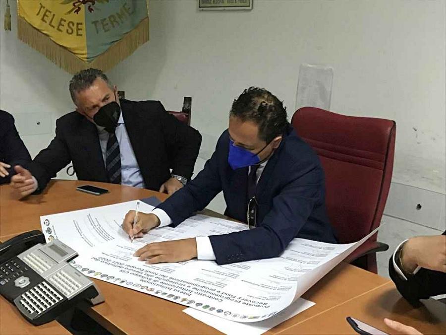 Contratto Istituzionale di Sviluppo, i Comuni hanno firmato a Telese Terme