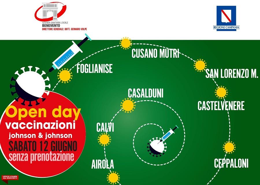 Vaccinazioni: continuano a tamburo battente gli open day riservati ai cittadini della provincia di Benevento