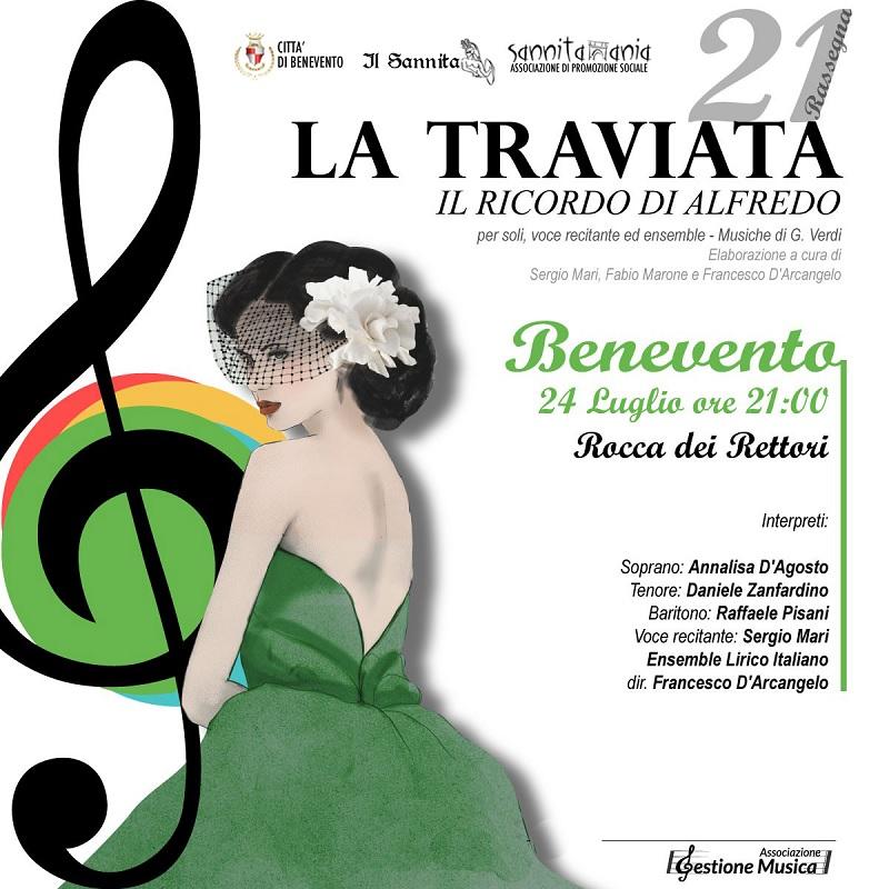 Il 24 luglio alla Rocca dei Rettori va in scena 'La Traviata'di Verdi