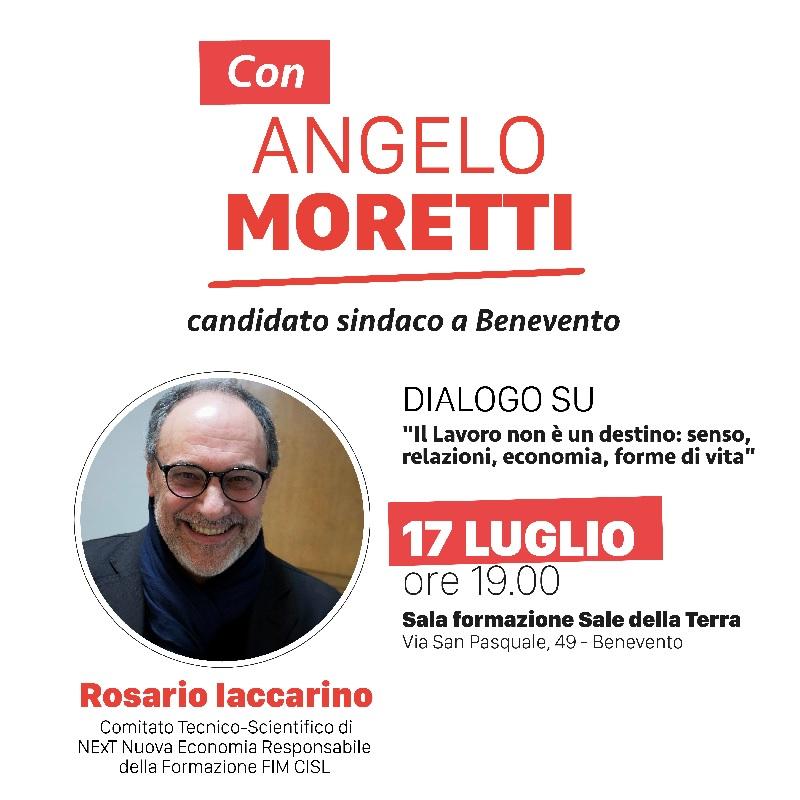 Civico 22, oggi 17 Luglio Rosario Iaccarino discuterà sul tema delicato del lavoro.