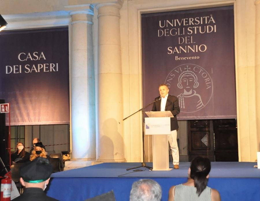 Il Presidente Di Maria al Graduation Day 2021 dell'Ateneo sannita