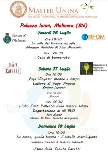 A Molinara a Palazzo Ionni, si svolgerà un Master organizzato dall'Università degli studi di Napoli, Federico II
