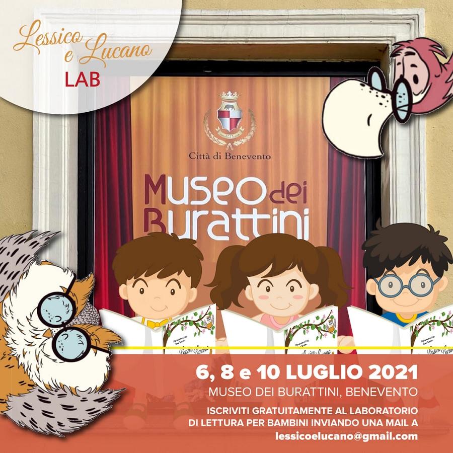 """Il laboratorio """"Lessico e Lucano Lab"""" partirà il 6 luglio presso il Museo dei Burattini di Benevento"""
