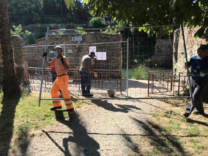 """Parco Terme Jacobelli, rimosse le recinzioni. Caporaso:""""Provvedimento tempestivo indispensabile per la sicurezza"""""""