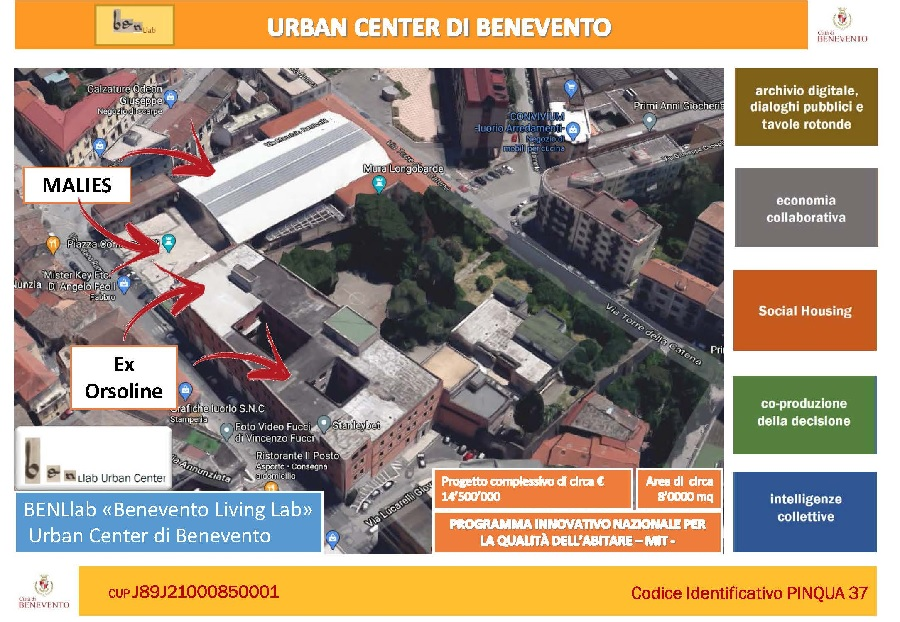 Urban Center finanziato per 14,5 milioni. Progetto in collaborazione tra Comune di Benevento e Unisannio