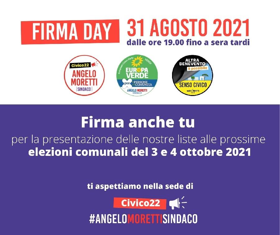 ArCo. Raccolta firme oggi per presentare le 3 liste collegate a Angelo Moretti