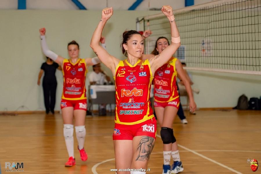 Accademia Volley. Maria Tenza, la favola giallorossa continua