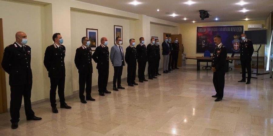 Il generale Maurizio Stefanizzi in visita al comando provinciale dei Carabinieri di Benevento