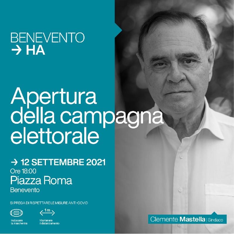 Mastella. Domenica 12 Settembre in Piazza Roma apertura campagna elettorale e presentazione delle Liste