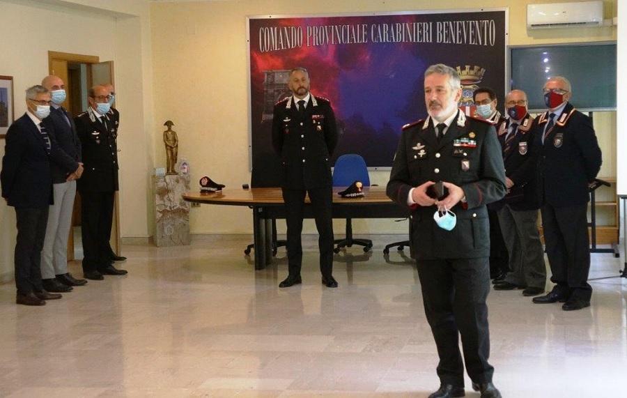 """Benevento: il nuovo comandante dei carabinieri """"Campania"""" in visita presso il comando provinciale"""