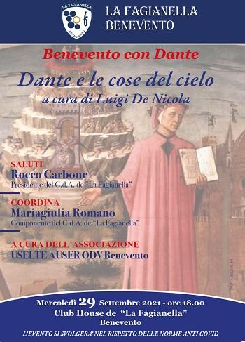 Benevento con Dante, Uselte Auser Benevento realizza per la seconda volta un incontro tematico