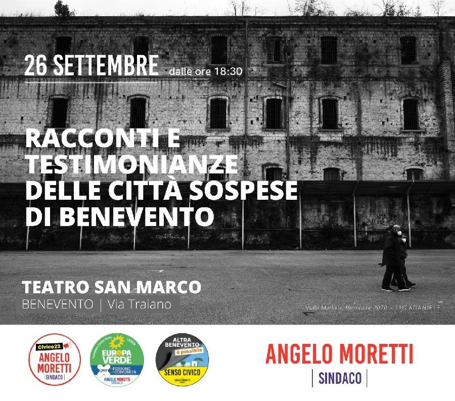 """Angelo Moretti : """"Stasera le città sospese alle 18,30 al Teatro San Marco""""."""