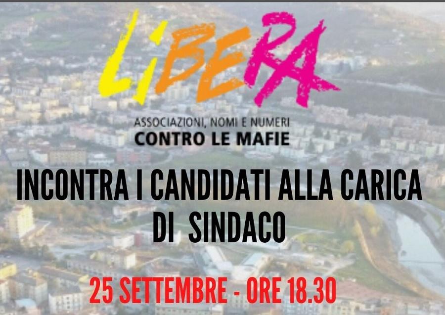 Libera incontra i candidati alla carica di sindaco.Moretti parteciperà all'evento.