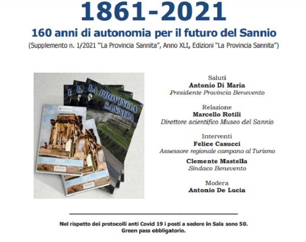 """Al Museo del Sannio presentazione del libro """"1861 – 2021"""""""
