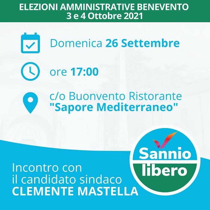 """Domenica manifestazione elettorale di """"Sannio Libero"""" e Clemente Mastella"""