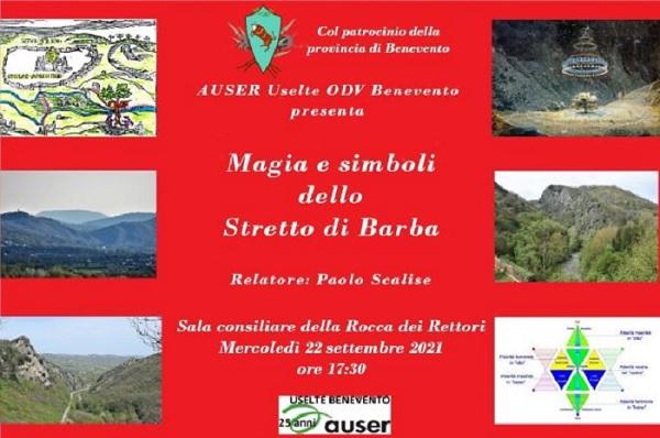 """Auser Uselte, alla Rocca dei Rettori incontro con Paolo Scalise sul tema: """"Magia e simboli dello stretto di Barba"""""""