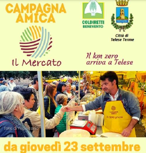Coldiretti,a Telese Terme un nuovo mercato Campagna Amica
