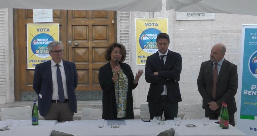 Il sottosegretario Molteni (Lega) a Benevento da De Stasio : si è parlato di sicurezza in centro storico