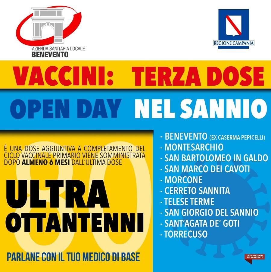 ASL  Benevento: Open day terza dose per gli ultraottantenni senza prenotazione. Ecco dove
