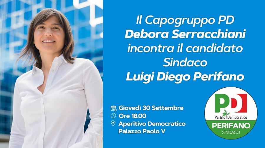 'Aperitivo Democratico': la capogruppo Debora Serracchiani a Benevento per Luigi Diego Perifano