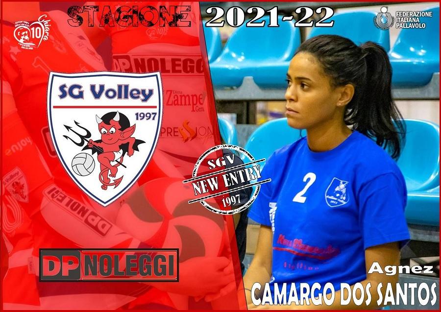 Alla DP Noleggi SG Volley, arriva l'italo brasiliana Agnez Camargo Dos Santos