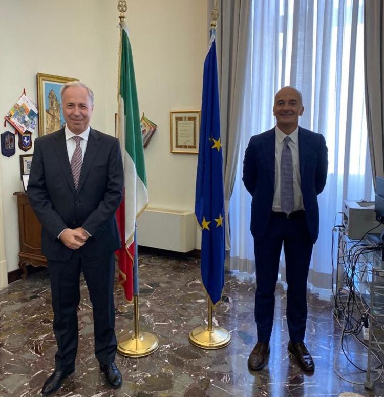 Il Prefetto Carlo Torlontano incontra il nuovo questore di Benevento Edgardo Fabio Giobbi