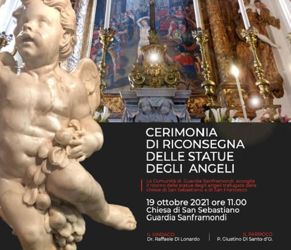 Guardia Sanframondi Cerimonia di riconsegna delle statue degli angeli