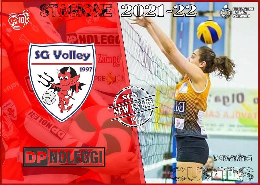 Nuovo rinforzo per la DP SG Volley1997: arriva Valentina Curtis