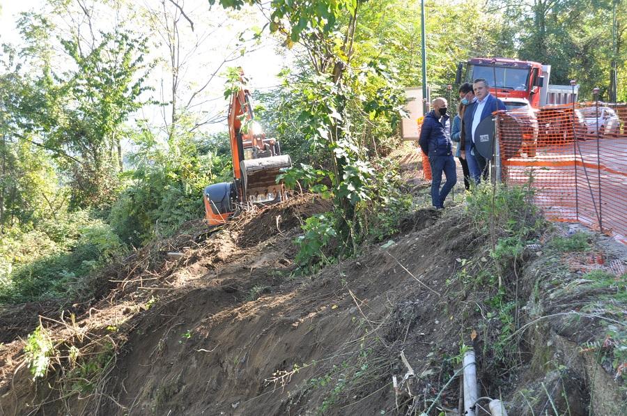 Avviati i lavori di risanamento della frana sulla Strada Provinciale Ciardelli a San Leucio del Sannio