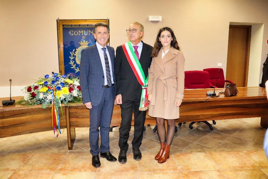 Pesco Sannita. Insediamento e giuramento del neo sindaco Nicola Gentile.