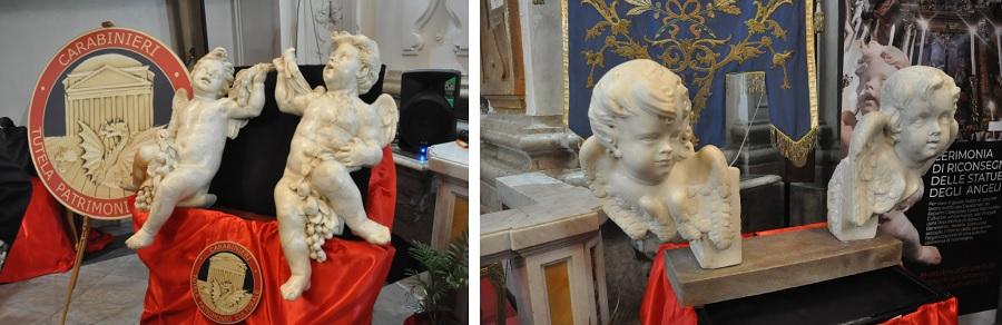A Guardia Sanframondi la riconsegna,di quattro sculture in marmo bianco trafugate circa trentadue anni fa.Oggi la cerimonia