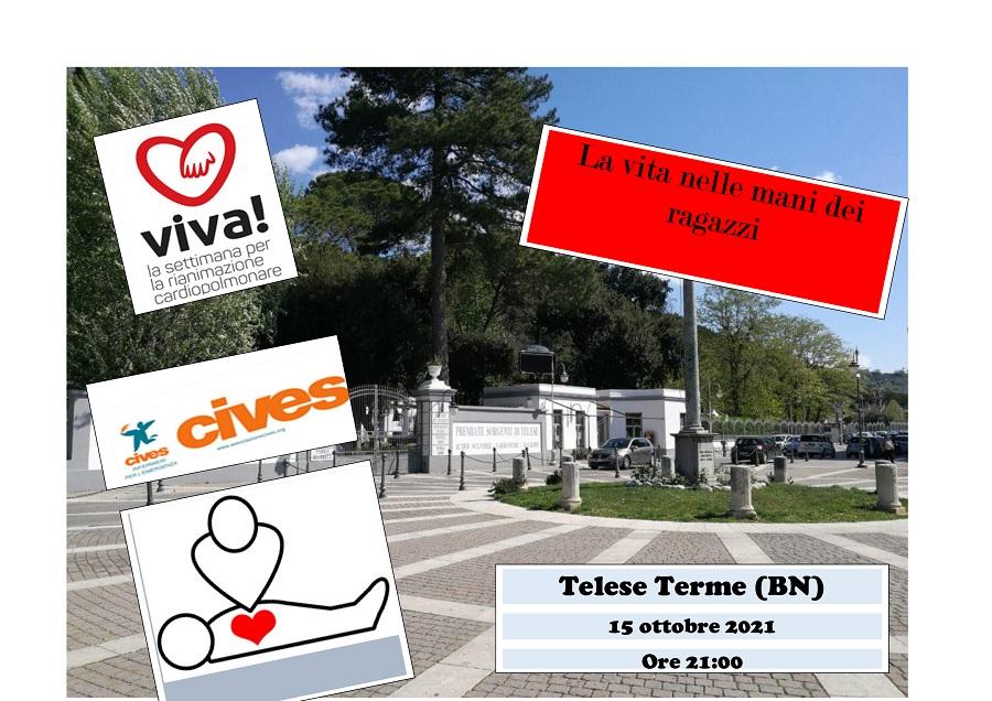 Anche a Telese Terme la il 15 Ottobre la campagna di sensibilizzazione sulle tecniche di rianimazione
