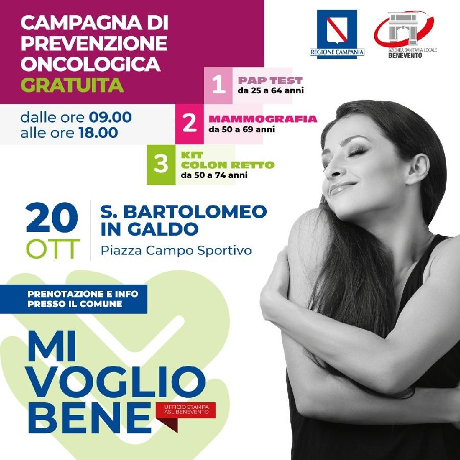 """ASL BN. Il Direttore Generale Gennaro Volpe a San Bartolomeo per l'apertura del """"tour"""" per lo screening contro i tumori"""