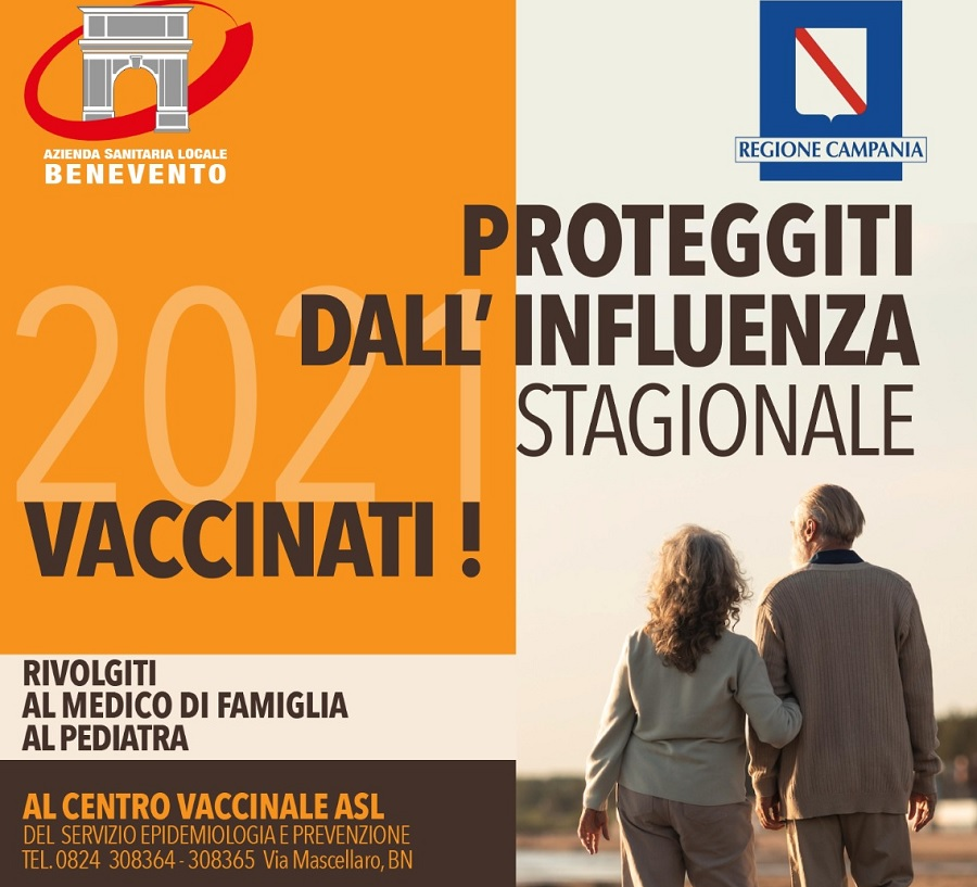 Asl Benevento: al via la campagna vaccinale contro l'influenza stagionale